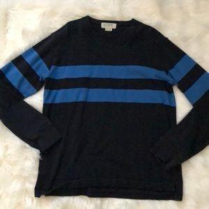 J.Crew Blue Striped Sweater